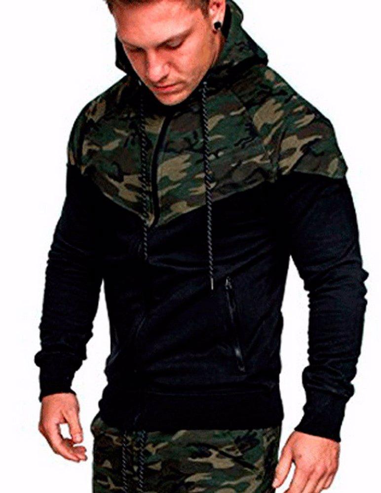 bcdcc7385 BuyInvite | Menswear Essenatials Mens Long Sleeve Camo Hoodies ...