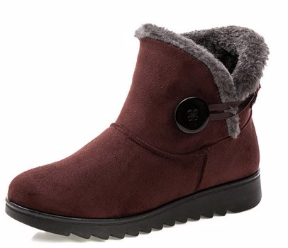 0bda4234934 BuyInvite | Fashion Boots & Booties Fur Lined Snow Boots Flock ...