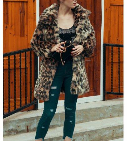 a56e3678ab86 BuyInvite | On-trend Faux Fur Jackets Womens Leopard Faux Fur Shaggy ...