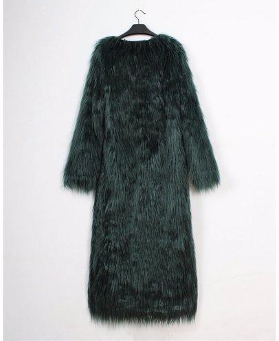 ce7a2821d200 BuyInvite | On-trend Faux Fur Jackets Womens Long Faux Fur Shaggy Coat