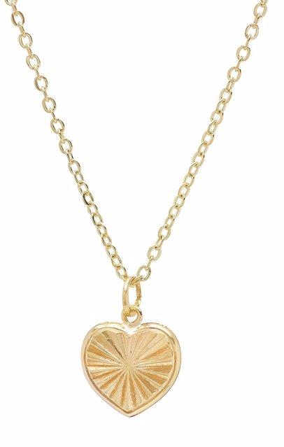 ed8ffa0153 BuyInvite | Best Silver 14K Solid Gold Diamond Cut Heart Pendant ...