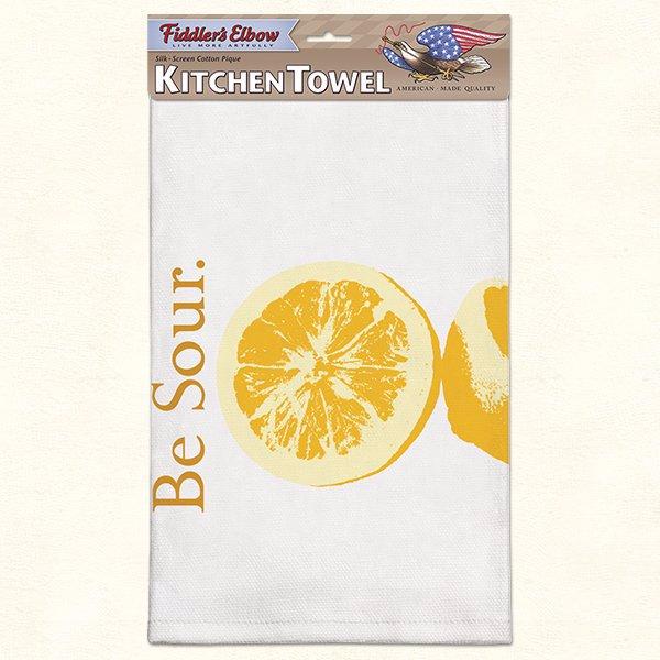 Ozsale Fiddlers Elbow Be Sour Flour Sack Kitchen Towel 100 Cotton
