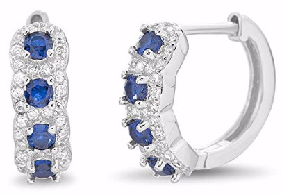 127d1c9b18ddb 18K White Gold Plated Earring adorned with Swarovski® Crystals