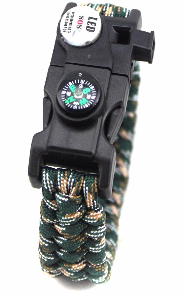 6eeda27cb BuyInvite | David Mason Survival Buckle Bracelet - Compass, Whistle ...