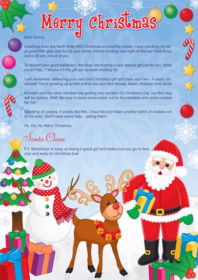 Identitydirect christmas letter from santa and friends preview christmas letter from santa and friends spiritdancerdesigns Choice Image