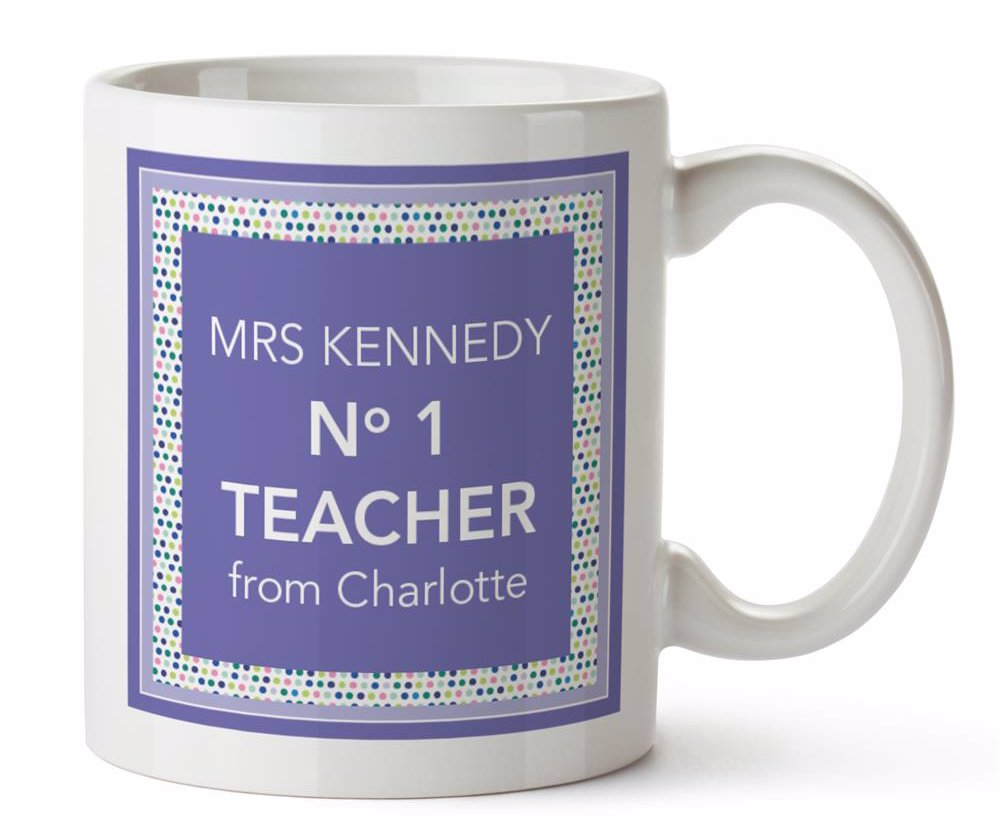 No 1 Teacher Ceramic Mug