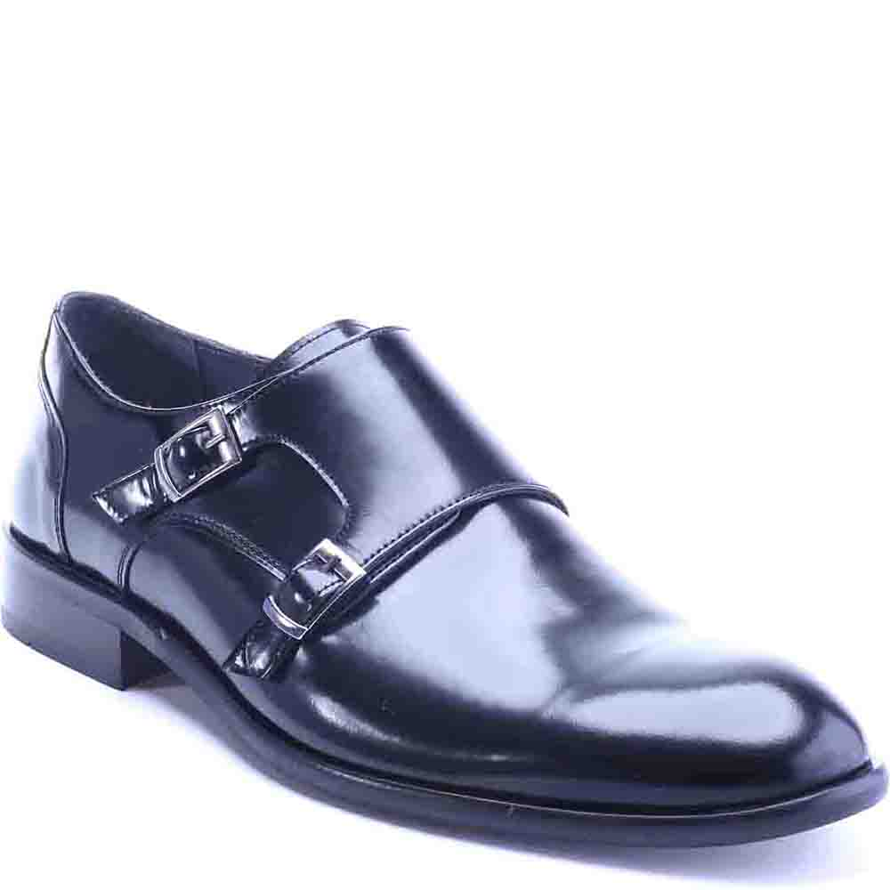 BuyInvite | Deckard Leather 2107 Monk Strap Shoes Black Split