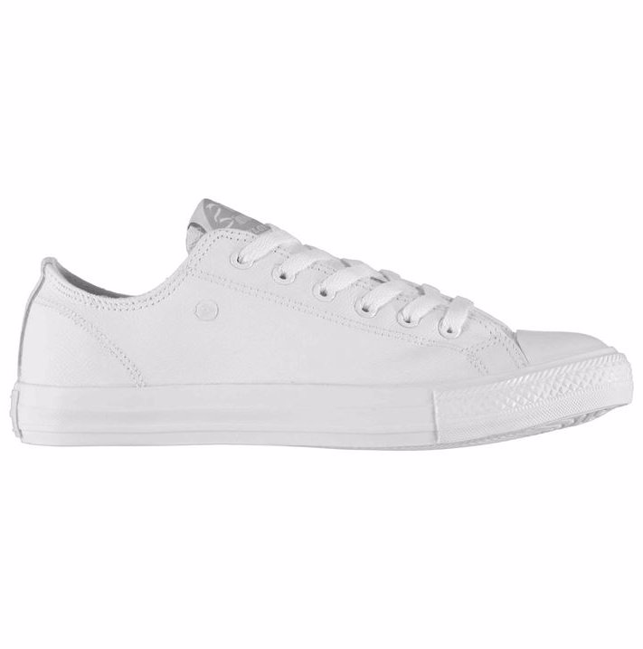 fd8bc97eb743 Dunlop Leather Low Trainers Mens