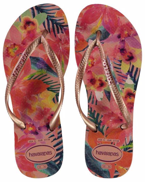 Slim Tropical Flip Flops by Havaianas.   e0acda1d1