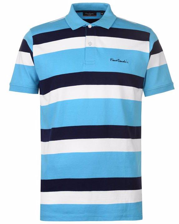 cd405f0b0e2ede Pierre Cardin Trio Striped Jersey Polo Shirt Mens