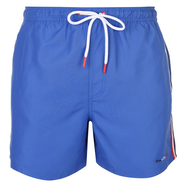 Mens Branded Pierre Cardin Block Coloured Contrast Panel Swim Shorts