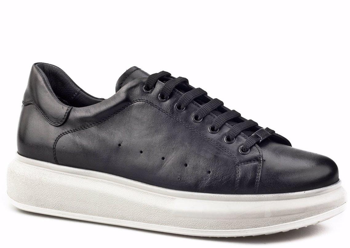 098340e45ff BuyInvite | Cabani Leather Black Cabani Men's Shoes Black Soft Leather
