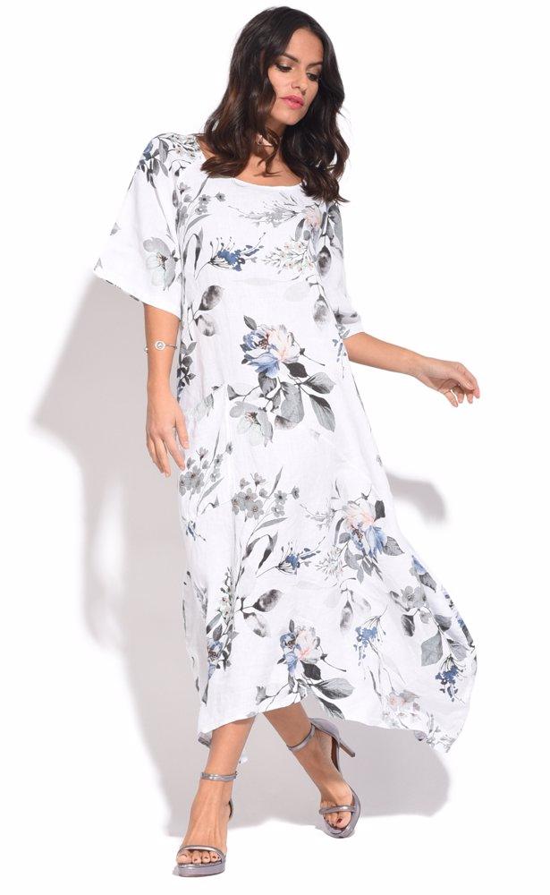 www.singsale.com.sg — Couleur lin Romy Dress White