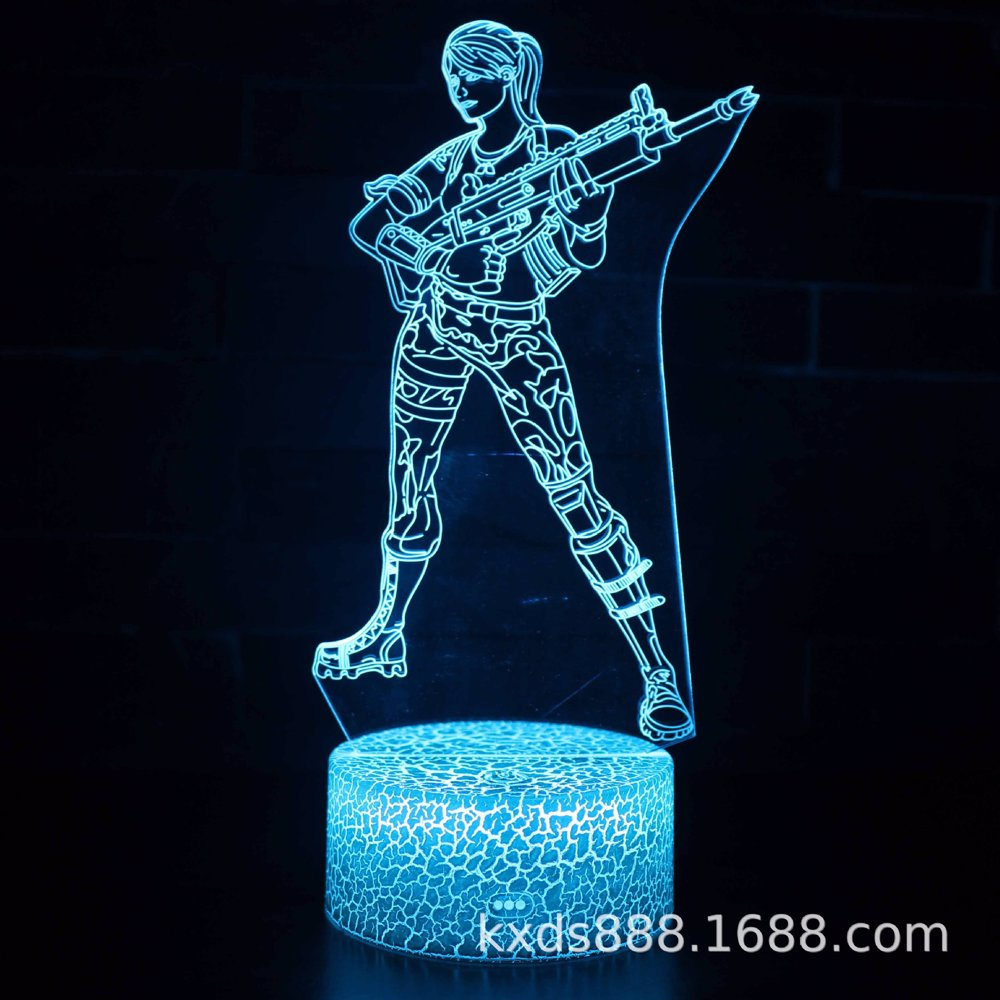 Character9 3D Optical Illusion LED Night Lamp With 7 Color Options