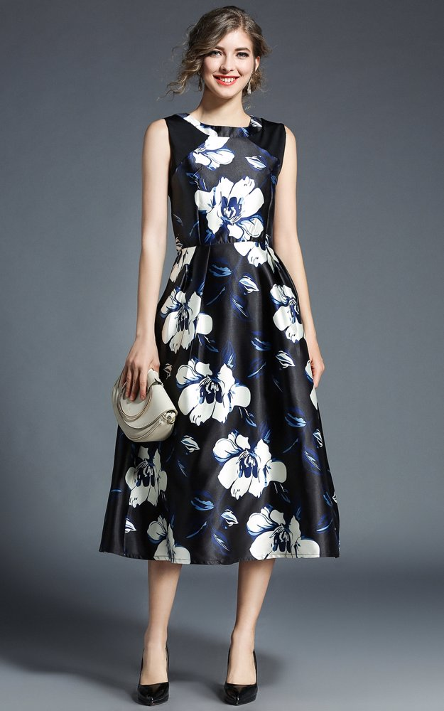 4435c9591c8a7 BuyInvite   Dress For The Occasion Sleeveless Dress Black and White ...