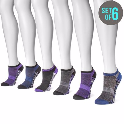 Women's 6 Pair Pack No Show Compression Arch Socks