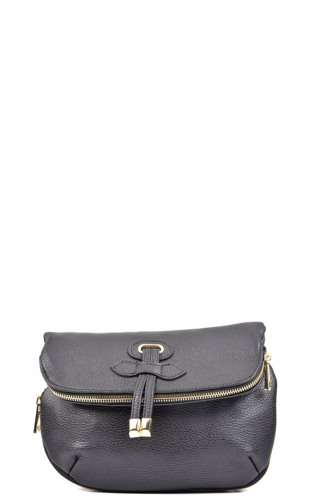 Preview with Zoom. Carla Ferreri. Leather Crossbody Bag Black 7d85834224b63