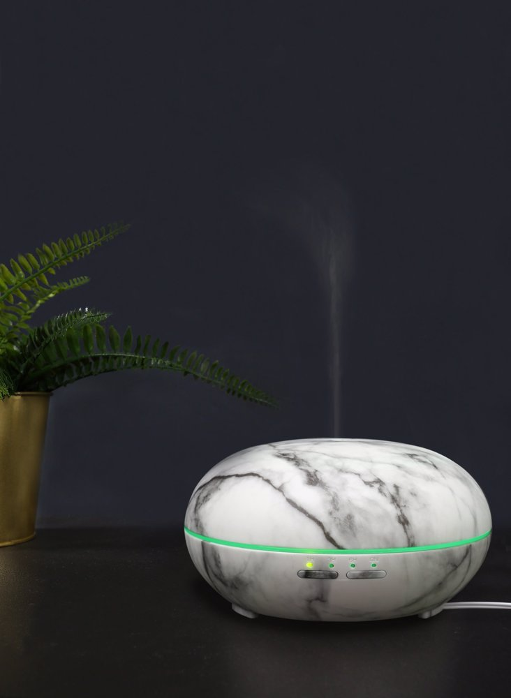 Marble Ultra Sonic Diffuser & Organic 30Ml Essential Oils Synergy  Diffusion- Air Cleanser