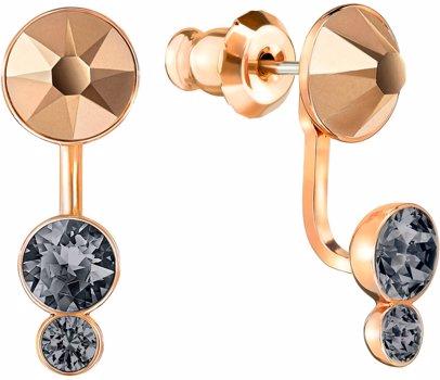 43912e116 BuyInvite | Swarovski Rose Gold-Plated Earrings Pink