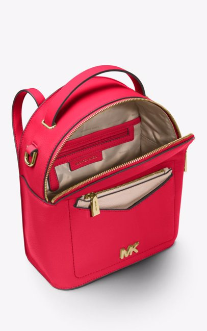 This product is not available. Michael Kors. Jessa Small Pebbled Leather  Convertible Backpack - Deep Pink f9c804669e469