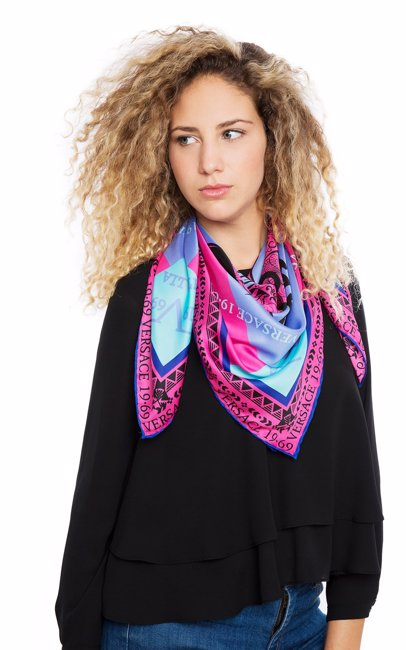 This product is not available. Versace 1969. Amazona Scarf Pink 334d54da3bc