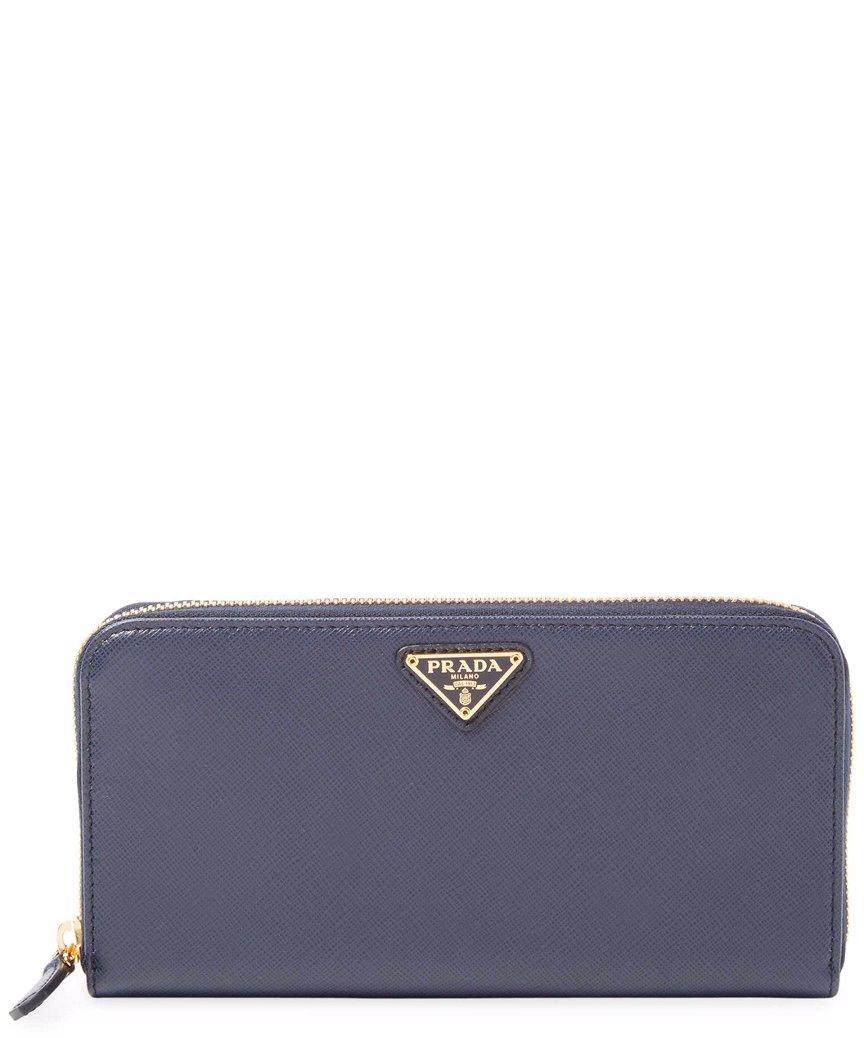 1ab243d1f7150 Preview with Zoom. Prada. Prada Zip-Around Saffiano Leather Wallet