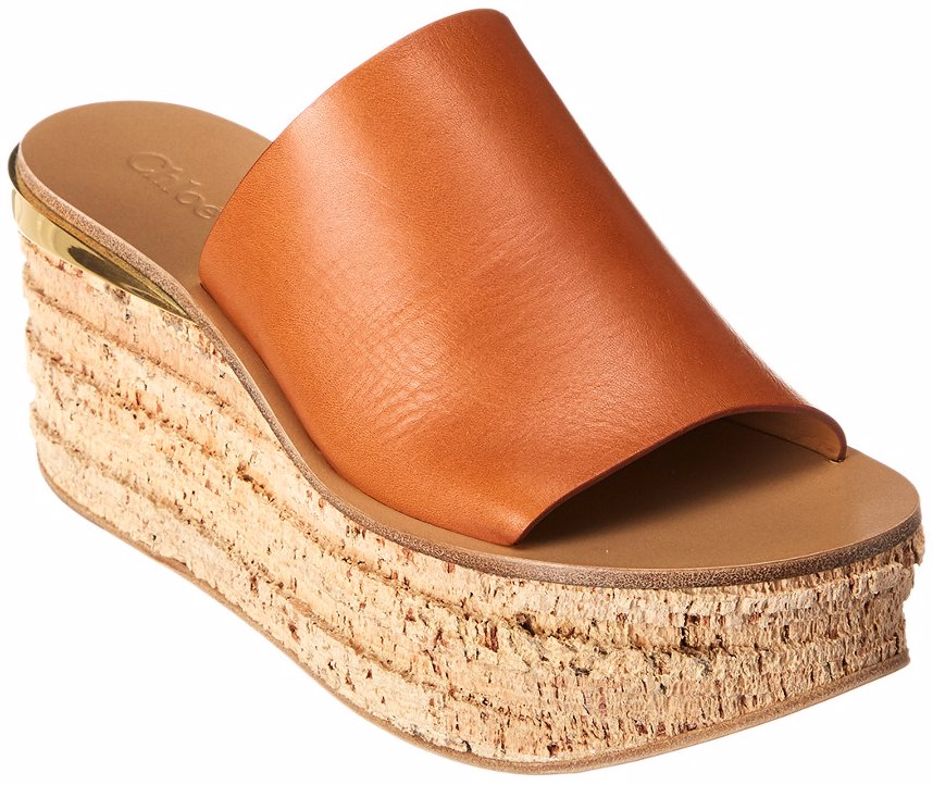 db24618f83 BuyInvite | Chloe Camille Leather Wedge Sandal