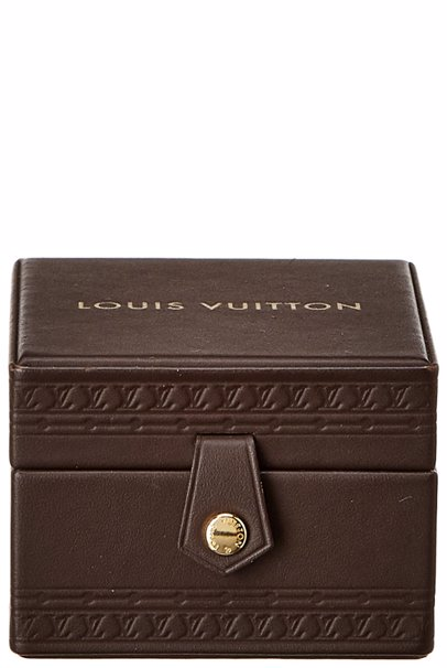 f337fe87b9 BuyInvite | Louis Vuitton Brown Leather VIP Jewelry Case