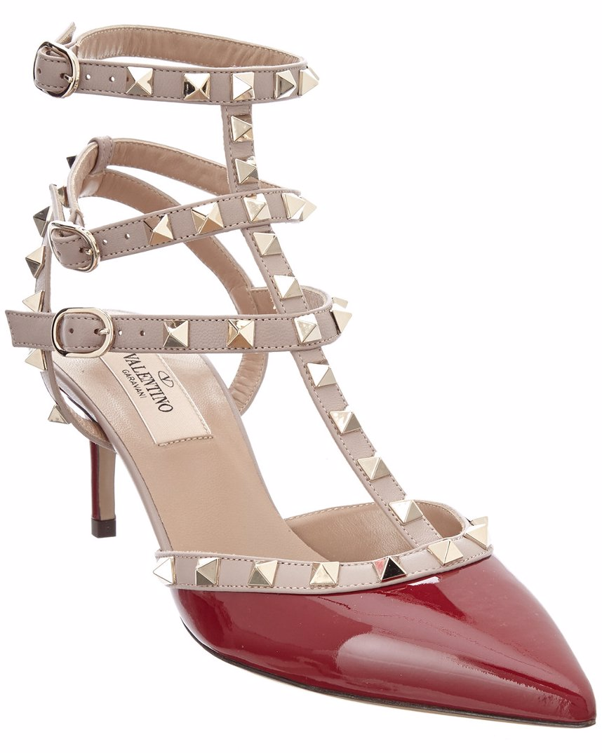 eb69b21719ca Preview with Zoom. Valentino. Valentino Rockstud Patent Ankle Strap Pump