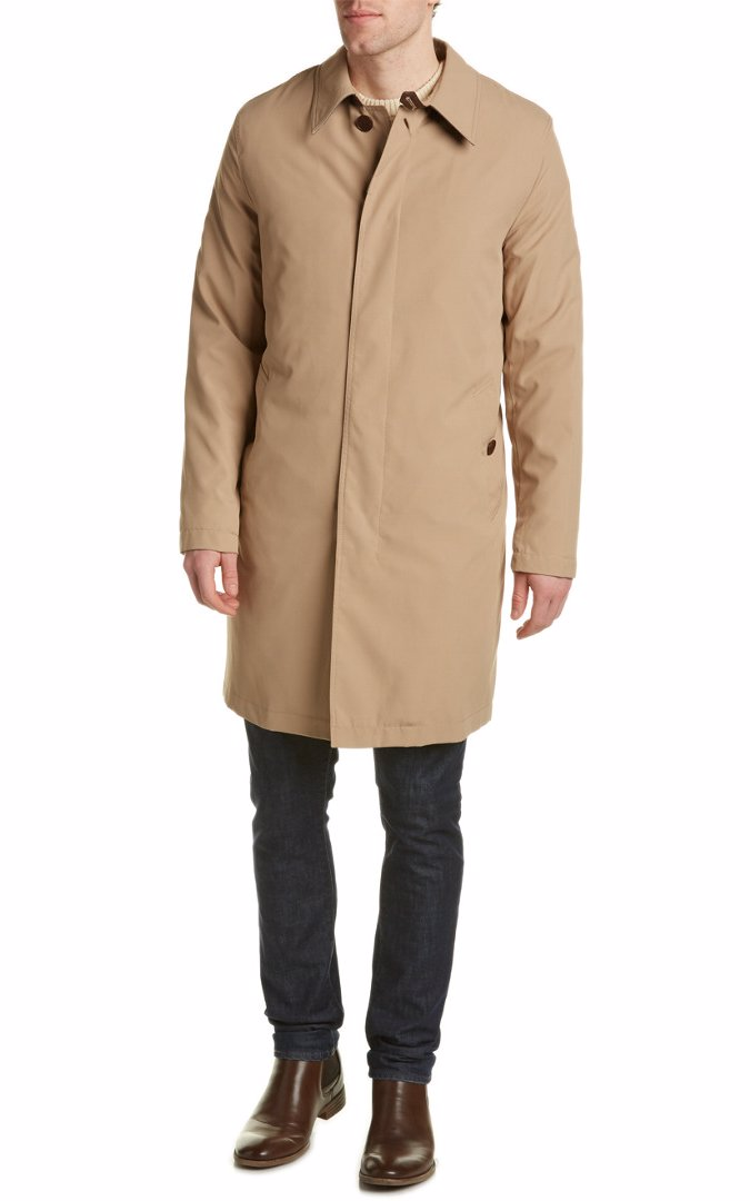 0d341bbe138 BuyInvite   Cole Haan Cole Haan Leather-Trim Long Jacket