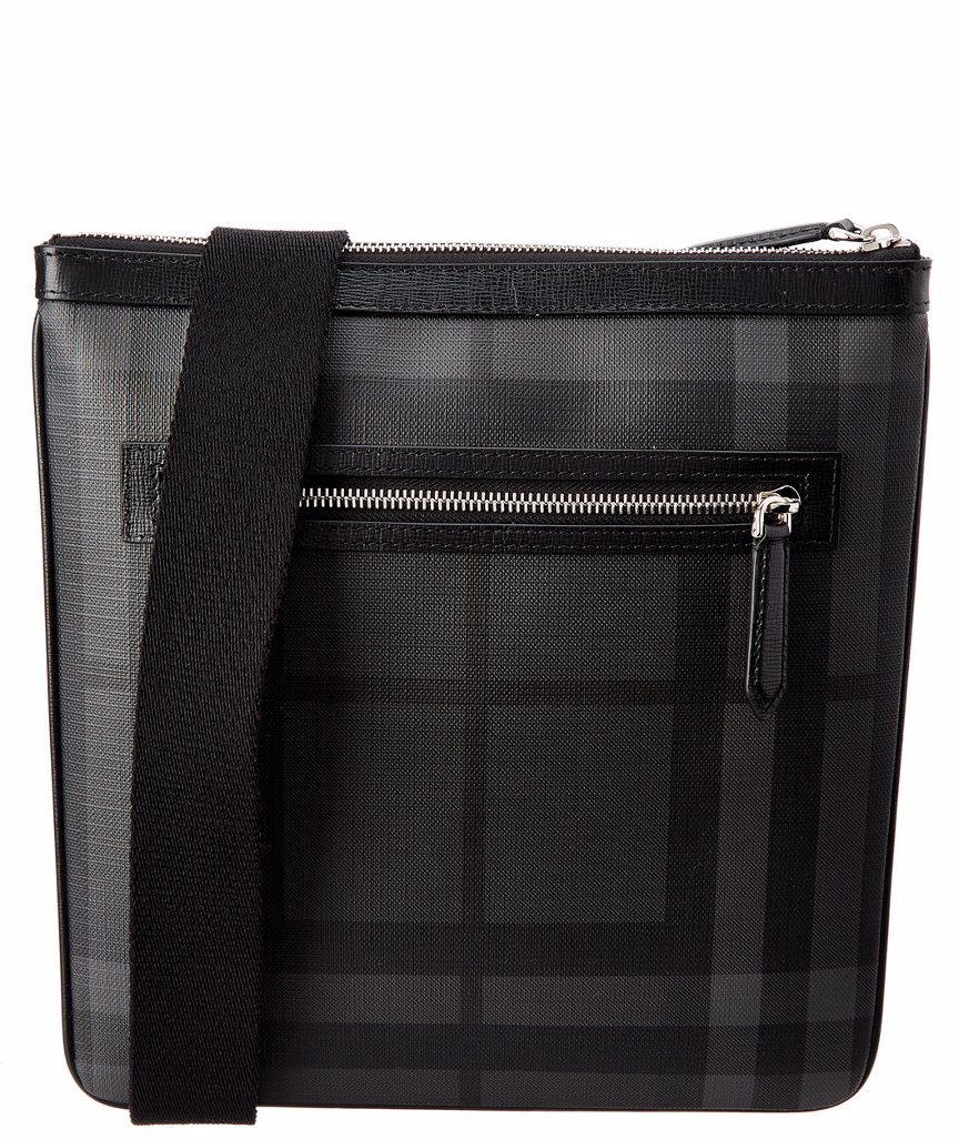 b24a0f81c542 Preview with Zoom. Burberry. Burberry Leather Trim London Check Messenger  Bag
