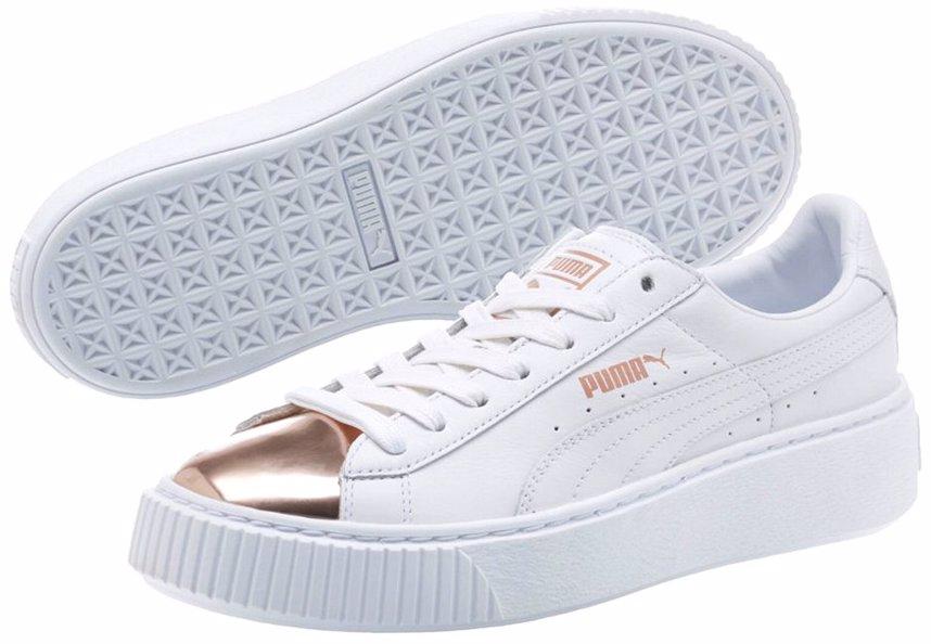 sports shoes 848b2 4dd89 PUMA Women's Basket Platform Metallic Sneaker