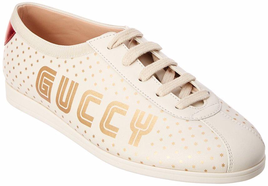 cc2dfec09 MYSALE   Gucci Gucci Guccy Falacer Leather Sneaker