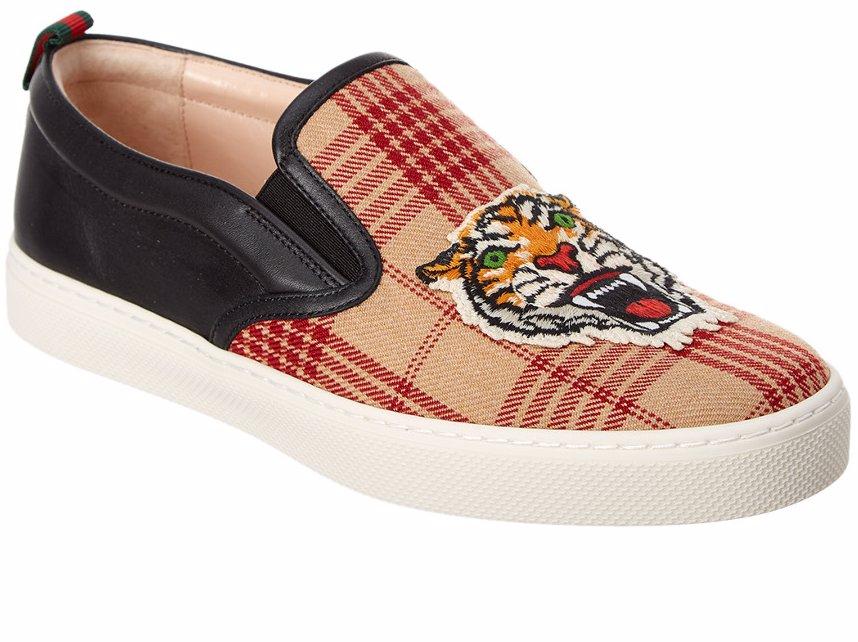 gucci tiger slip on