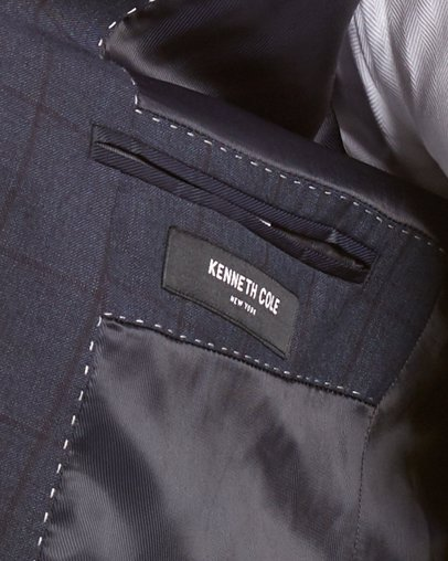 Kenneth Cole Mens New York Wool Suit With Flat Front Pant