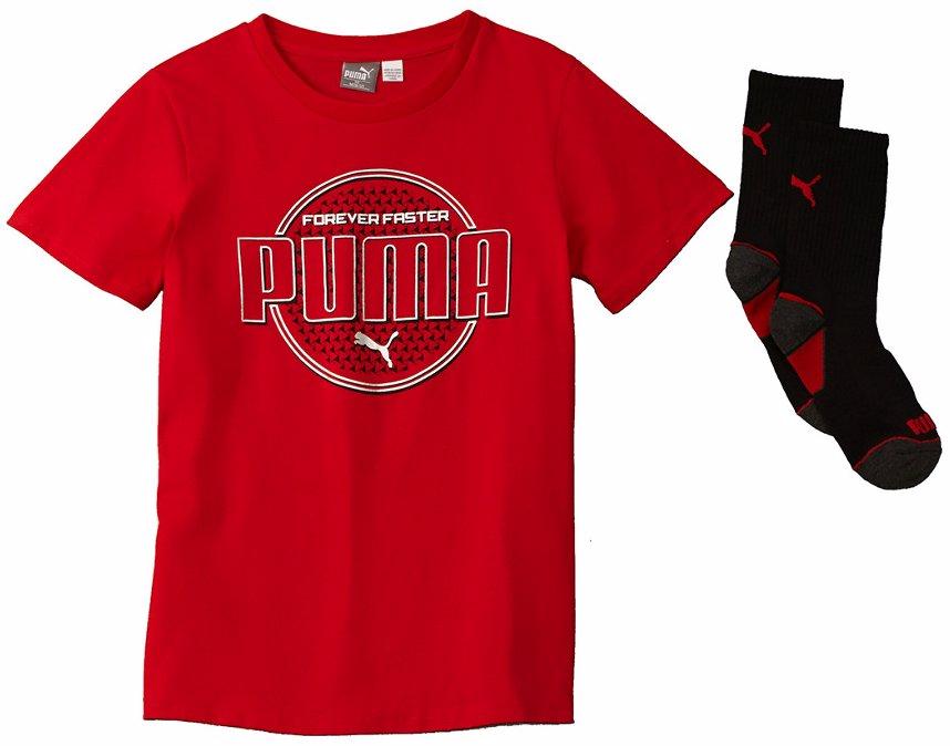 4c7b3f6fb6bf PUMA Boys' T-Shirt & Socks Set