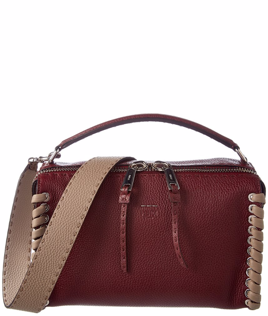 32108d8a72 Preview with Zoom. FENDI. FENDI Lei Selleria Whipstitch Leather Boston Bag
