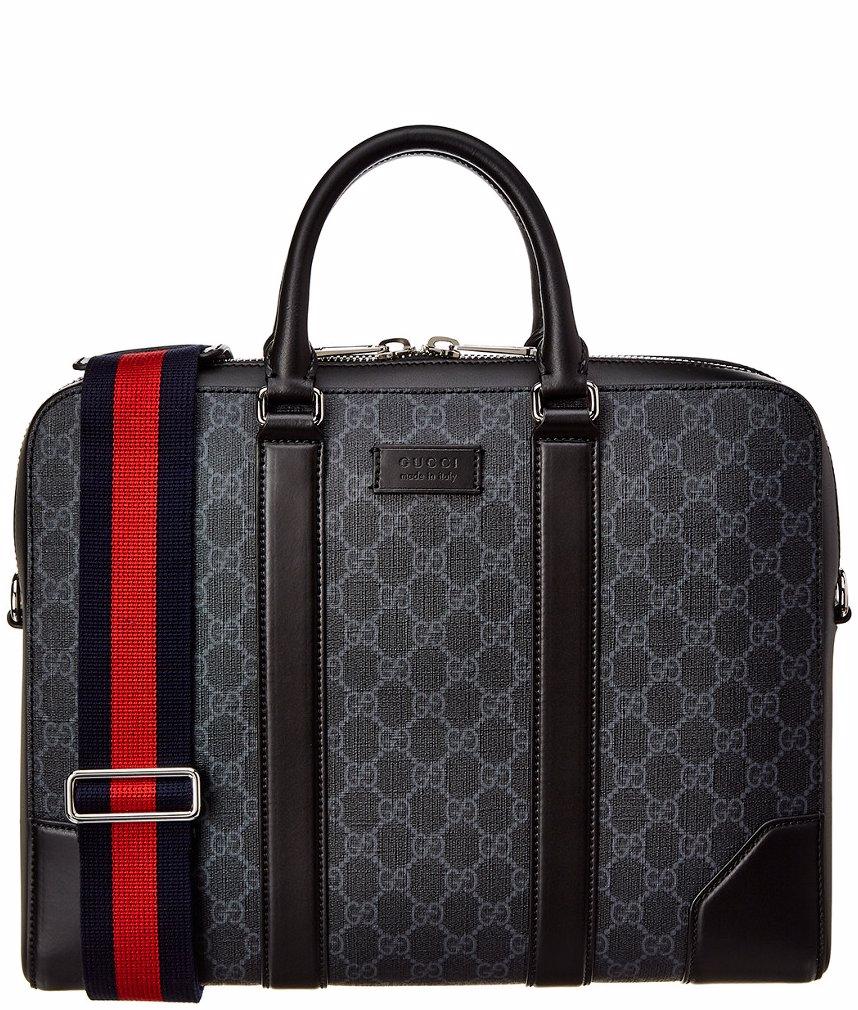 af58db6b7 BuyInvite | Gucci GG Supreme Canvas & Leather Briefcase