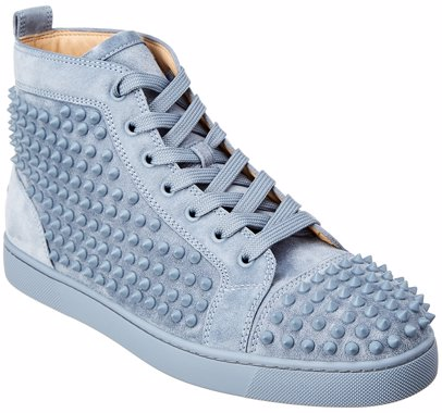 huge discount 5912e cf161 Christian Louboutin Junior Spikes Suede Sneaker
