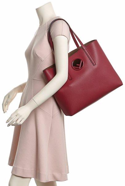 efbe0ca897 MYSALE | FENDI FENDI F Logo Leather Shopper Tote