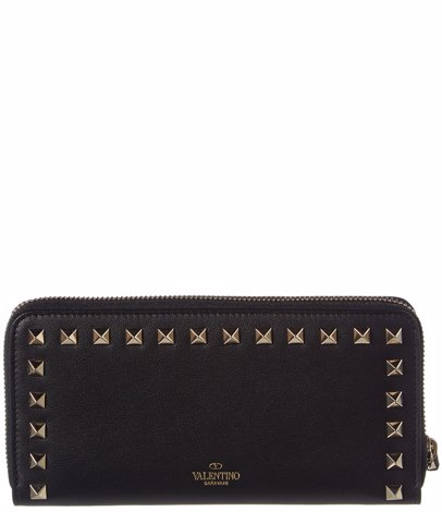 00dd9a3300 BuyInvite | Valentino Rockstud Leather Zippered Continental Wallet