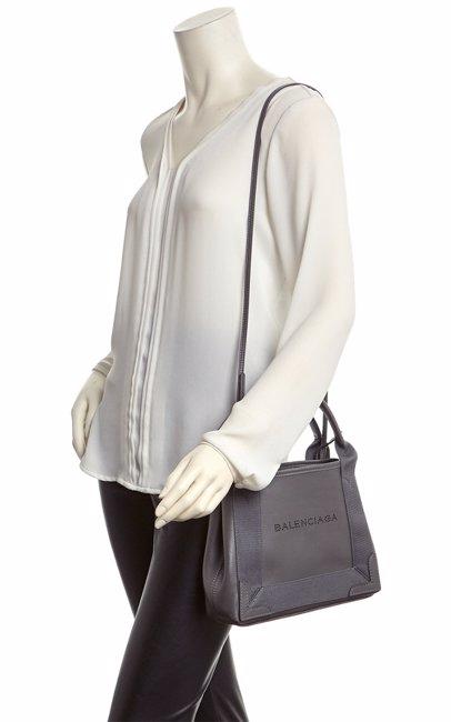 a0fcc60222f MYSALE | Balenciaga Balenciaga Navy Cabas Extra Small Leather Tote