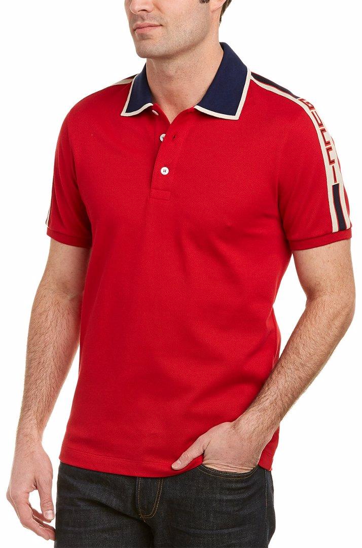 new arrivals various design convenience goods Gucci Stripe Cotton Polo Shirt