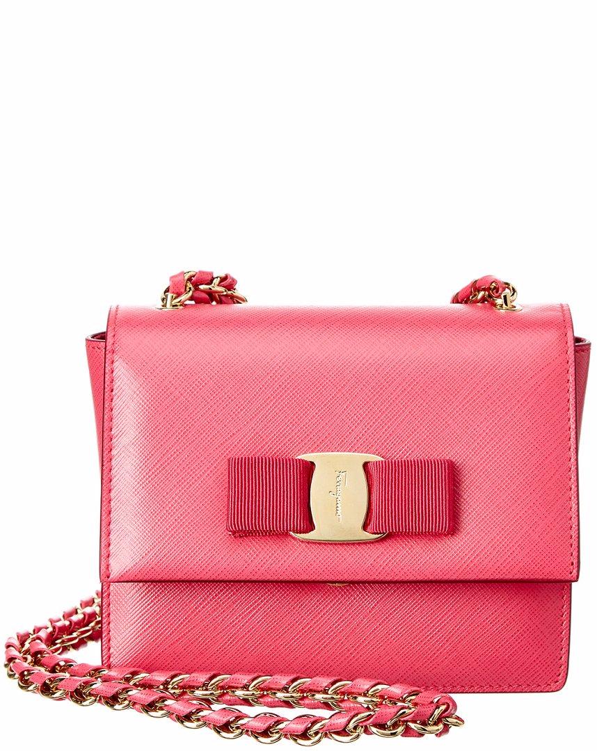 8c57d184c5d0 Preview with Zoom. Salvatore Ferragamo. Salvatore Ferragamo Ginny Small  Vara Leather Shoulder Bag