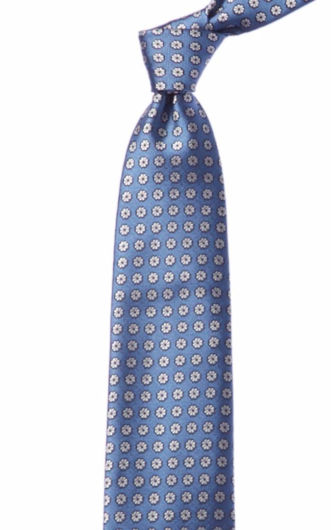 943be28a29d0 BuyInvite | Zegna Ermenegildo Blue & White Floral Silk Tie