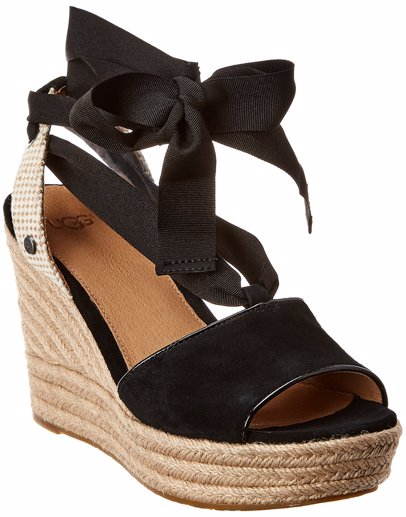 8c9ad5a6174 Ugg Shiloh Suede Wedge Sandal