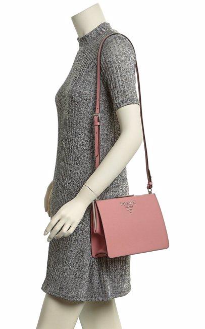 19abea572210 Prada Light Frame Saffiano Leather Shoulder Bag