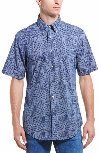 4378c083ac BuyInvite | Brooks Brothers Floral Regent Buttondown Shirt