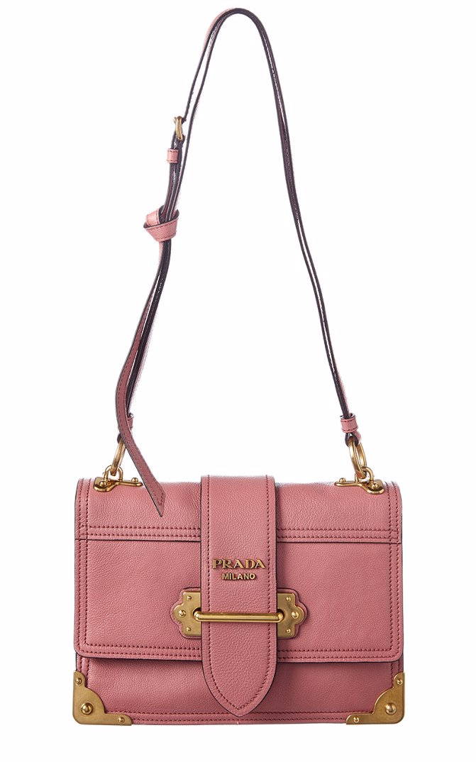 55abbd1085a7 Preview with Zoom. Prada. Prada Glace Cahier Leather Shoulder Bag