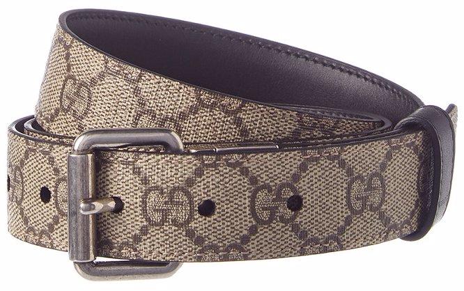 25059b806 NZSALE   Gucci Gucci GG Supreme Canvas & Leather Reversible Belt